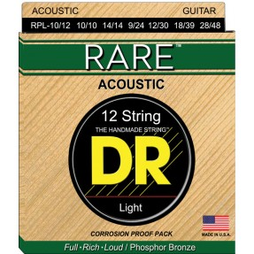 DR Cordes acoustiques guitare 12 cordes