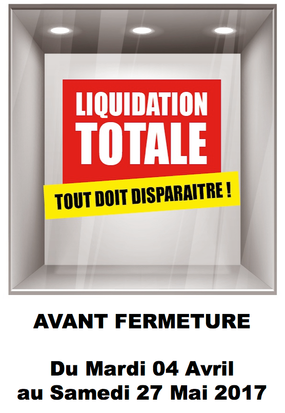 Liquidation magasin